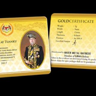 Agong Gold Bar Collection