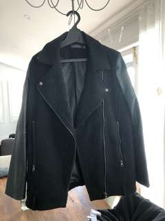 Glassons coat with leather sleeves