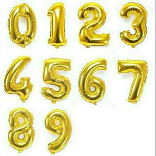 Number and at sign foil balloon