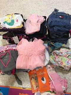 50 pcs Bundle bag of Girl clothes (1-2yo)