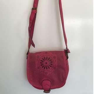Pink Saddle Style Handbag