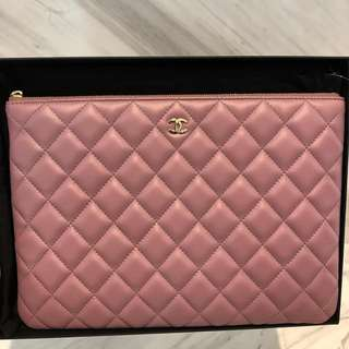 Chanel O Case Medium in Sweet Purple With GHW
