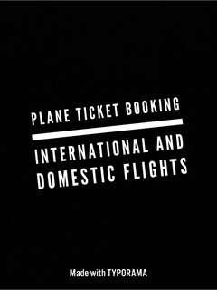 Plane Booking