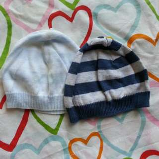 2pcs of Mothercare Baby Beanie