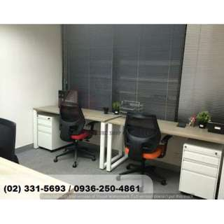 office staff desk ( custom made ) _Office Partition