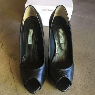 Tony Bianco peep toe heels