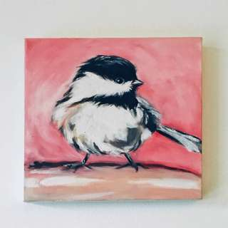 Chickadee-Oil Painting