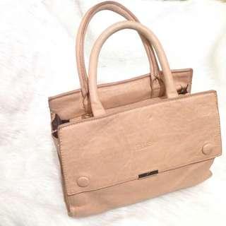 Plus Beige Leather Bag