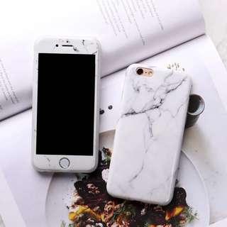 Iphone 6 雲石紋手機殻+玻璃貼