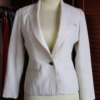 Canvas Blazer White