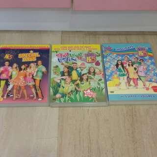 Pre-loved Hi 5 DVDS (selling set of 3 together)