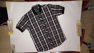 Tokyo Bay Shirt (Brown/Black/White pattern)
