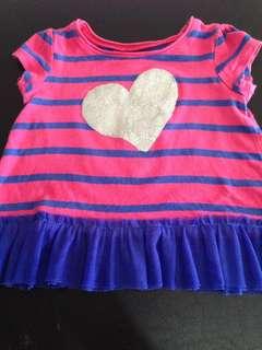 glittered heart top