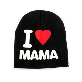 Baby Hat Cap I Love Mama