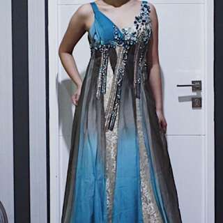 Turqoise ball gown