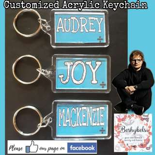 Customized Acrylic Keychain ft. Ed Sheeran