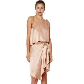 BEC & BRIDGE- Dahlia Asymmetrical Dress (Blush)