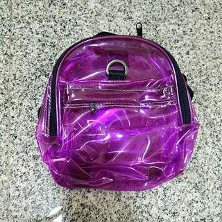 Transparent Purple Medium Dog Backpack