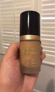 "Too Faced Born this way foundation in ""sand"""