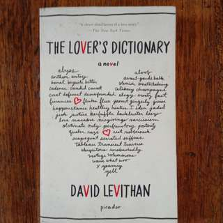 Lover's Dictionary by David Levithan