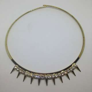 Studs and thorns necklace