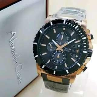 Jam tangan Alexander Christie rosegold Ori