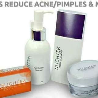 O2 bubble cleanser, facial cleanser,cloud cream and kojic papaya with glitathione soap