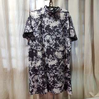 Marble floral baby doll dress XXL