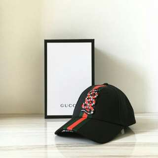 GUCCI SNAKE CAP BLACK