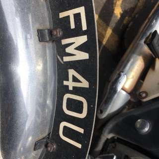 Motorcycle plate number FM40U