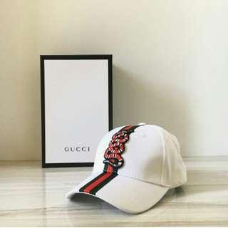 GUCCI SNAKE CAP WHITE
