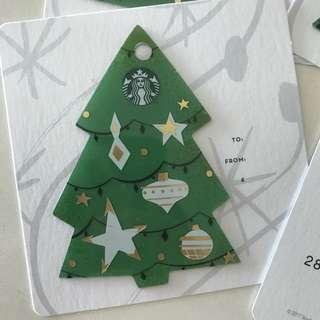 Starbucks Christmas Tree Card