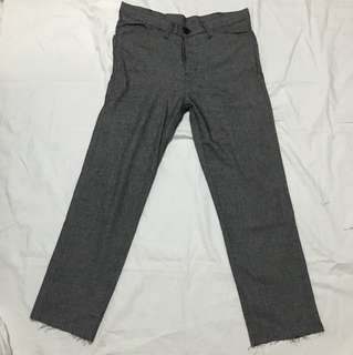 Black unfinishing pants
