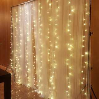 Rental of fairylight backdrop