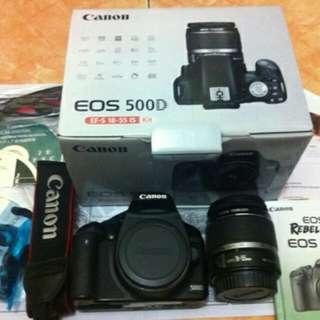 Camera Canon EOS 500d Kit New