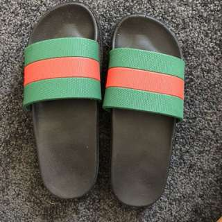 Fake Gucci slides