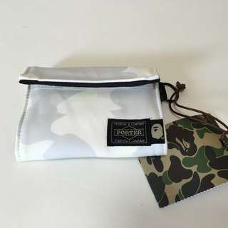 100% new新 – Porter Japan and Bape Wallet/Purse(Made in Japan)錢包/銀包(日本製造)