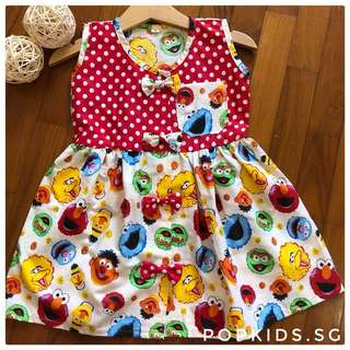 🍪INSTOCK - Cute Sesame Street Polkadot Dress 🍪
