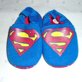 Charity Sale! Superman Baby shoes size 0-3 months Newborn shoes