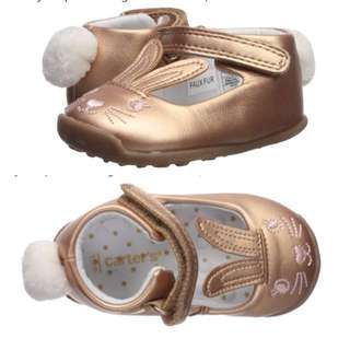 BN Carter's Every Step Baby Girl Bunny Walking Ballet Flats US 4 and US 6 available!