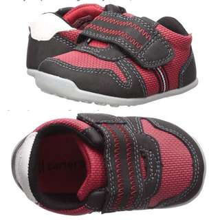 BN Carter's Every Step Baby Boy Red Black Walking Sneakers US 5.5 and US6 available!