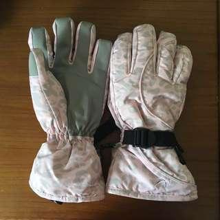 Thinsulate Pastel Pink Ski Gloves