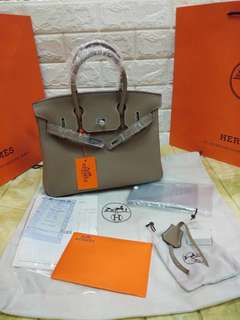 Hermes Birkin 30cm Togo Leather Taupe Hand Bag
