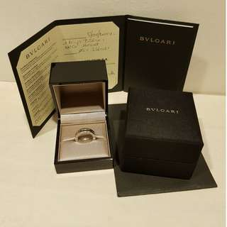 💎💎Authentic Bvlgari B.ZERO1 White Gold Signature Ring (1Band) 💎💎