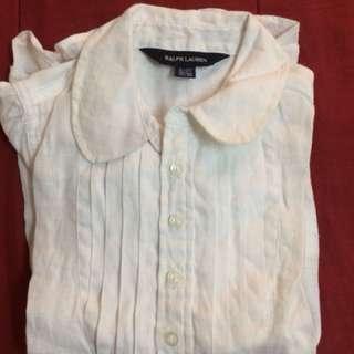 Authentic RPL linen long sleeve shirt