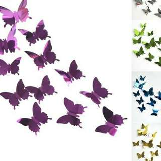 Mirror butterfly set