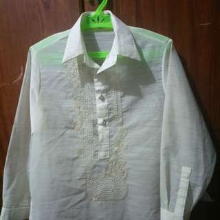 Kultura Barong for kid. Can fit to 7-8 years old. Worn once for moving up ceremony last year.