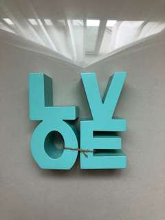 Typo LOVE sign