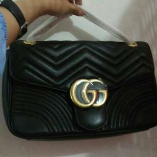 👉SOLD - GUCCI Marmont JUMBO Black Ghw #lo