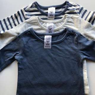 Brand New 3pcs Newborn Longsleeves